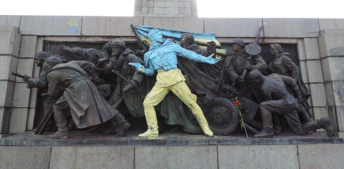 vandalismus sovětského pomníku