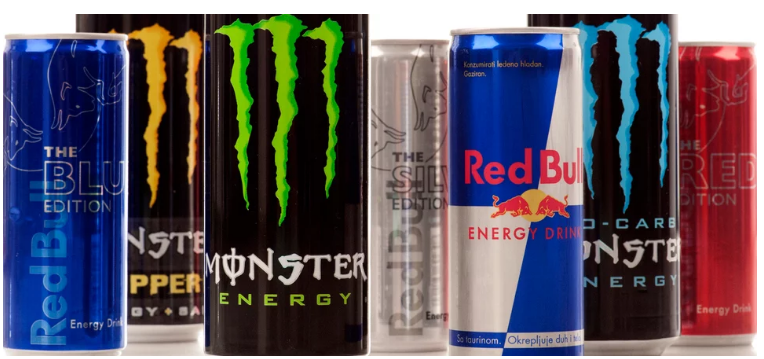 energetické nápoje obrázek