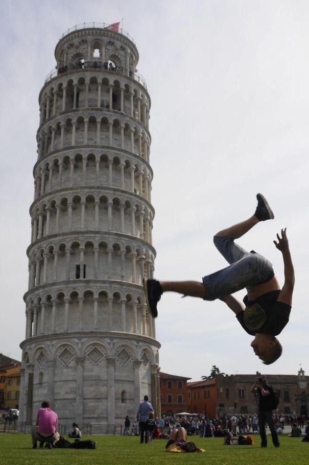 Inspirace na fotografii u šikmé věže v Pise